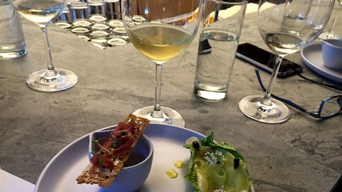 Cuisine and drinks at restaurant in Auckland