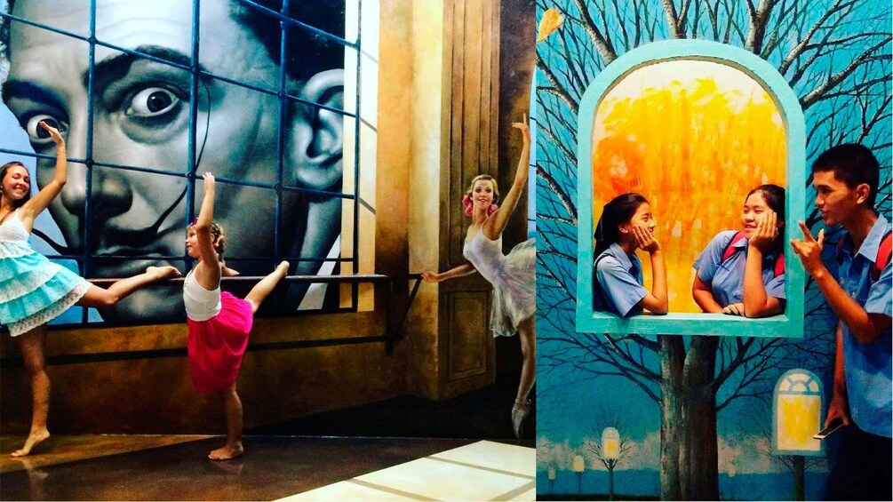 正在顯示第 1 張相片,共 4 張。 Dali exhibit at an optical illusion exhibit in Pattaya