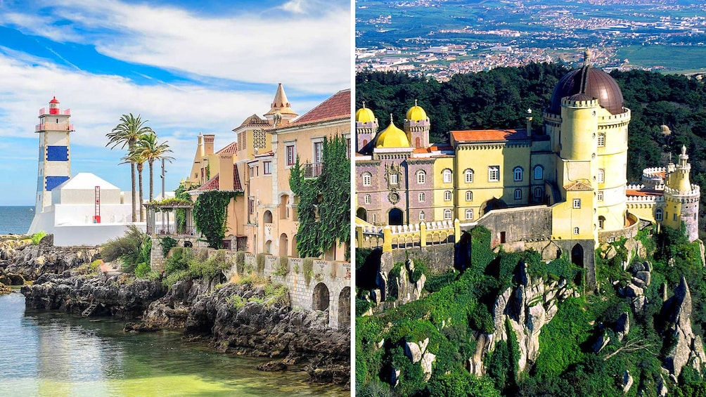 Foto 1 van 5. Combo image of City of Sintra and Cascais Town