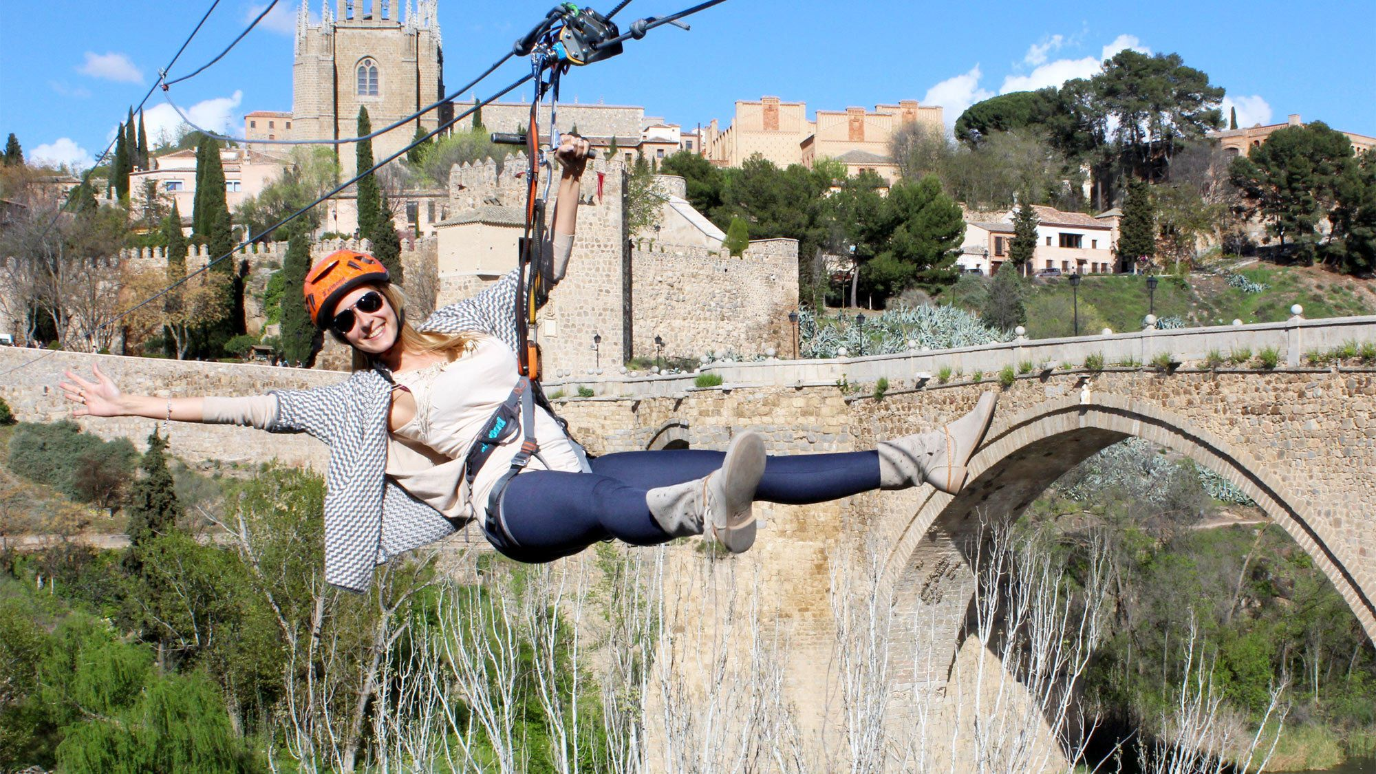 Toledo auf eigene Faust inklusive Eintritt zur Seilrutsche