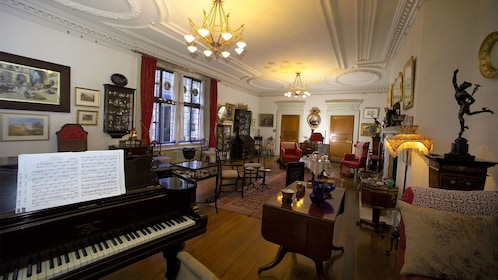 Beautiful view of a room at the Olveston Historic Home in Dunedin, New Zealand