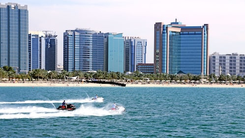 group of jet skiers in Abu Dhabi
