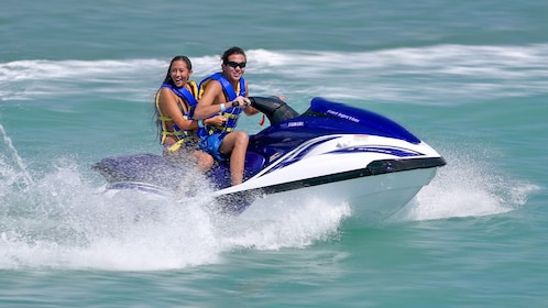 couple on a jet ski in Abu Dhabi