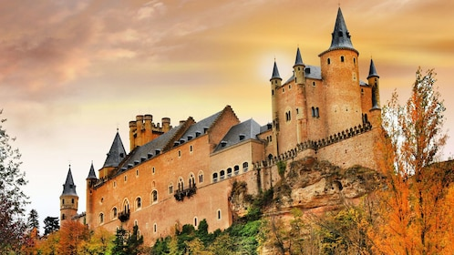 Castle at sunset in Segovia