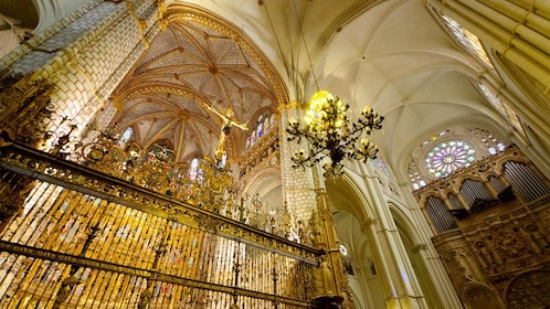 Inside the Cathedral in Toledo