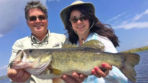 Couple on the Gainesville Bass Fishing Trip in Orlando, FL
