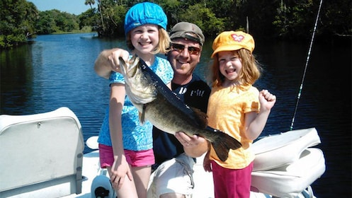 Family on the Gainesville Bass Fishing Trip in Orlando, FL
