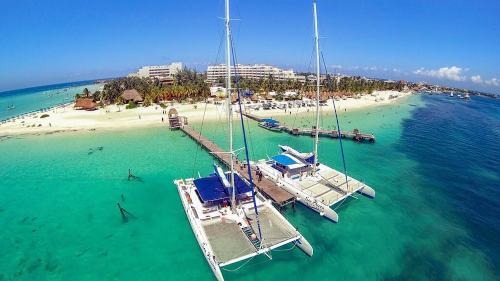 Show item 10 of 10. Isla Mujeres Catamaran Tour with Lunch & Open Bar