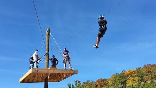 group zip lining in Missouri