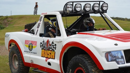Trophy Truck on race track