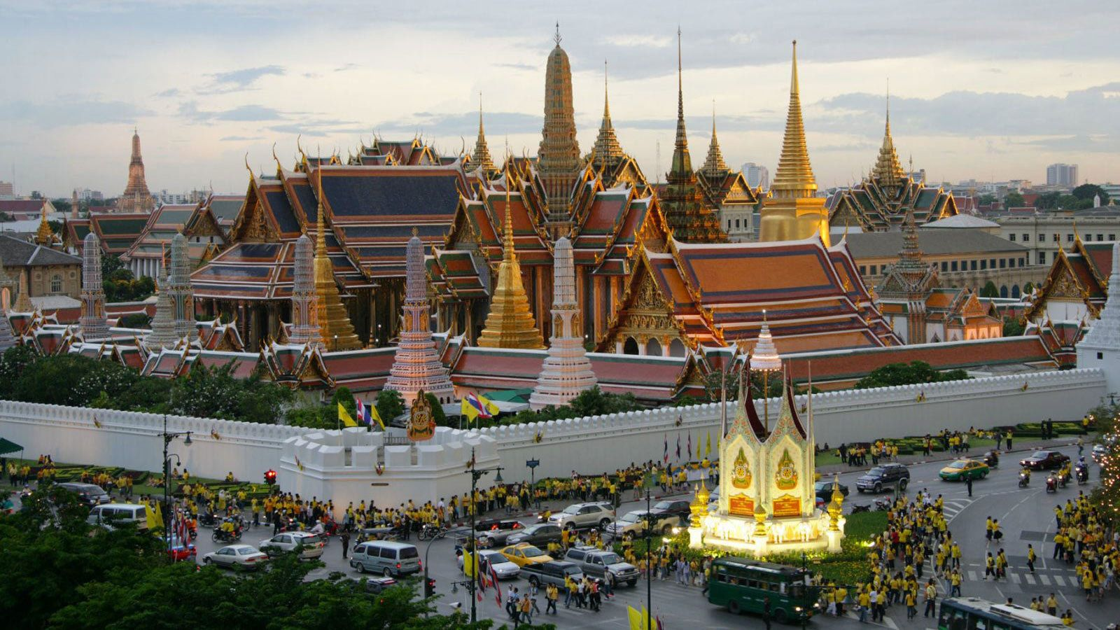 Stunning view of the Grand Palace in Bangkok