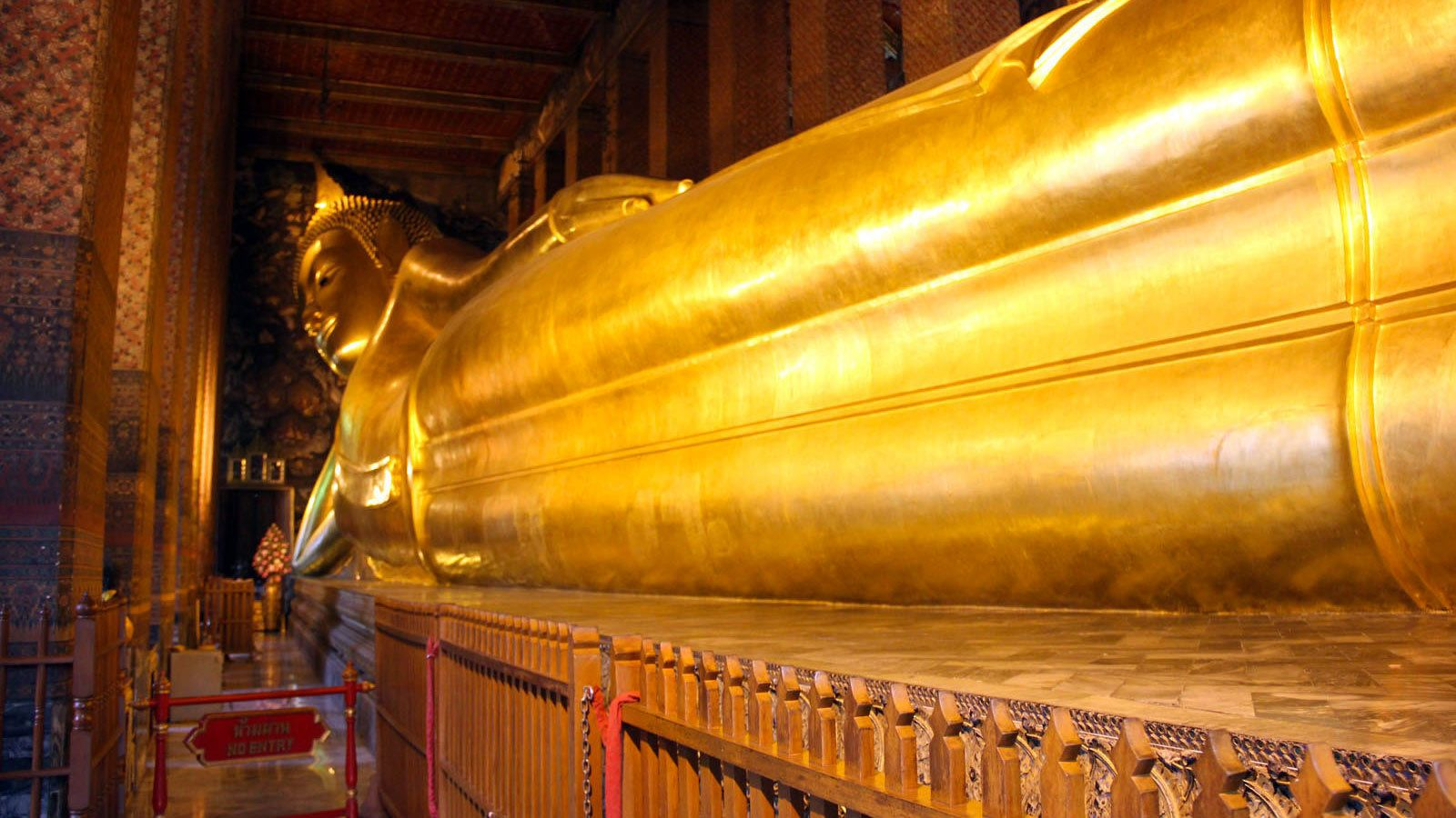 View of the reclining Buddha in Bangkok