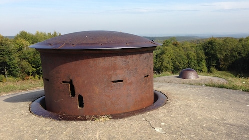 Battle turrets in Argonne forest from WWI