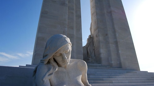 Statue of a woman on the Western Front WWI Tour in Paris