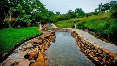 rocks along a small creek in Vietnam
