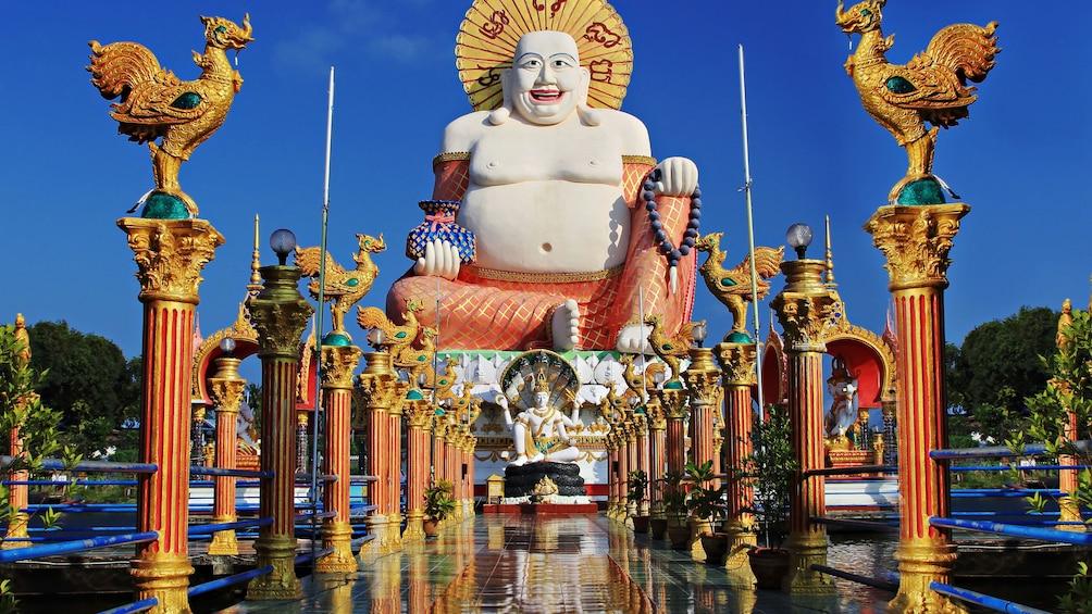 Show item 1 of 5. Happy Buddha statue, Ko-Samui island, Thailand