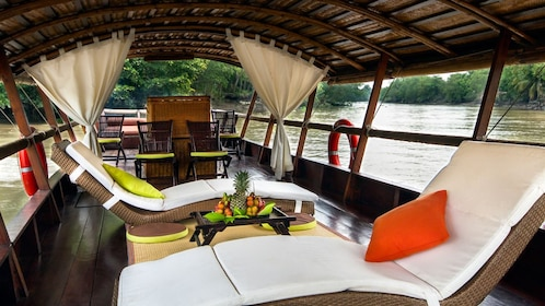 leisure seats on the boat in Vietnam