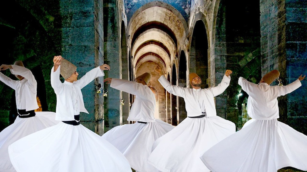 Charger l'élément 5 sur 5. Whirling Dervishes in a stone hall