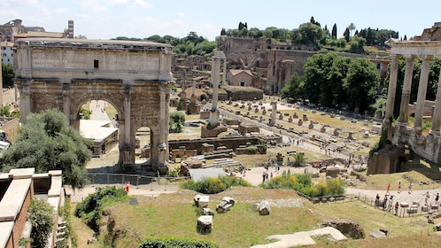 Ruins near the Colosseum in Rome