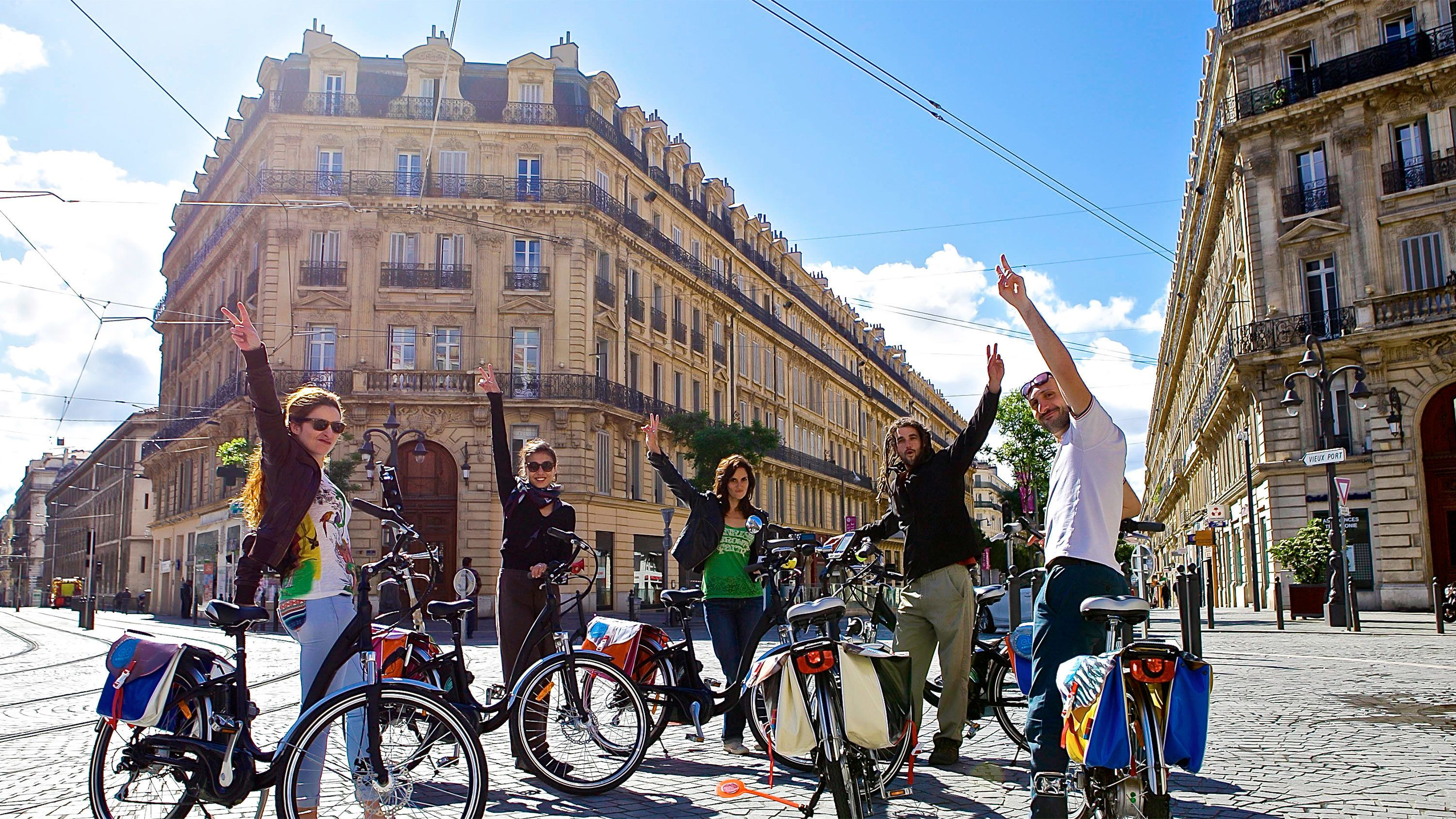 Vibrant views on the Marseille Half-Day Electric Bike Tour