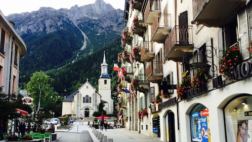 Street view of Chamonix