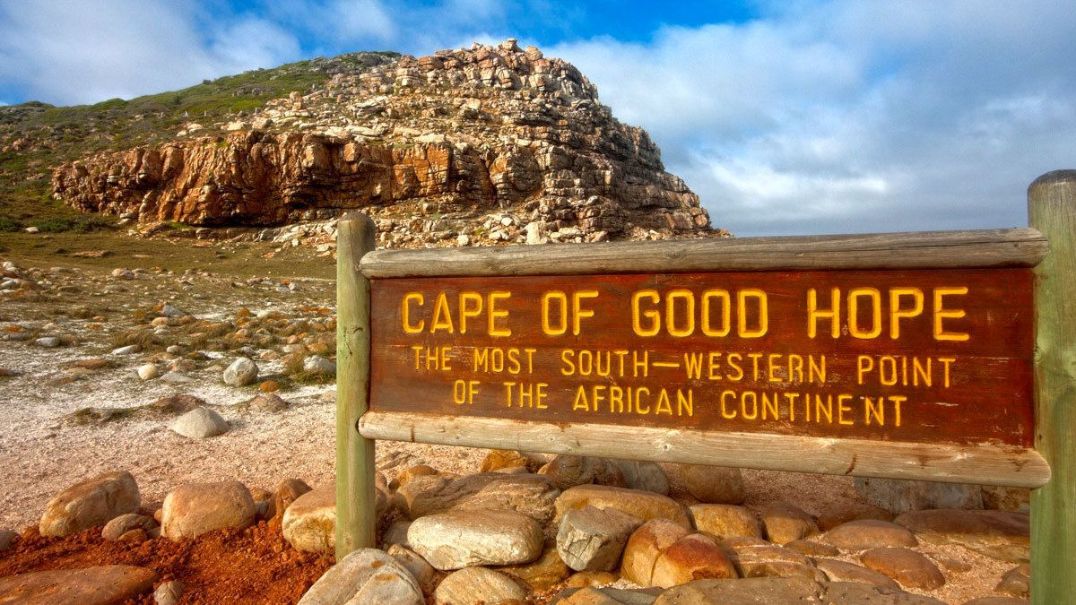 Sign for the Cape of Good Hope in Cape Town