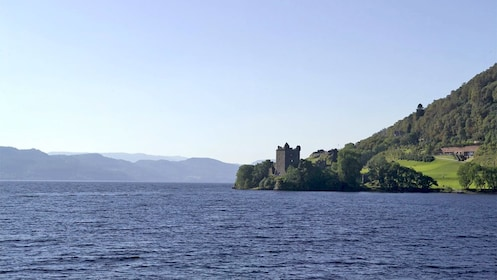 View of a castle from a distance in Inverness, Scotland