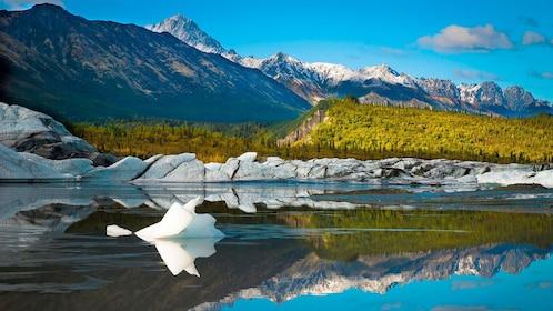 Glaciers in Alaskan wilderness