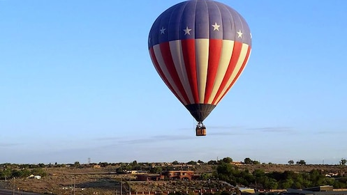 hot air balloon taking off in Albuquerque