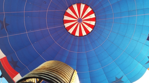 hot air balloon rising in Albuquerque