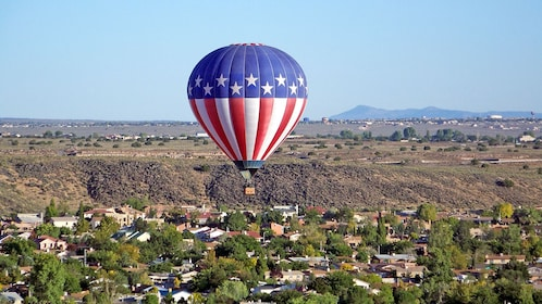 American flag themed hot air balloon in Albuquerque