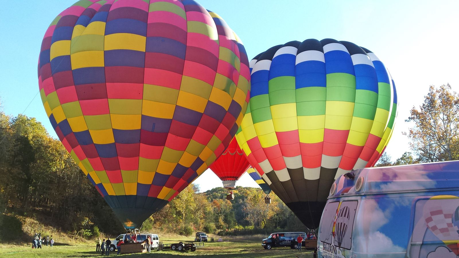 hot air balloon ready for flight in St. Louis