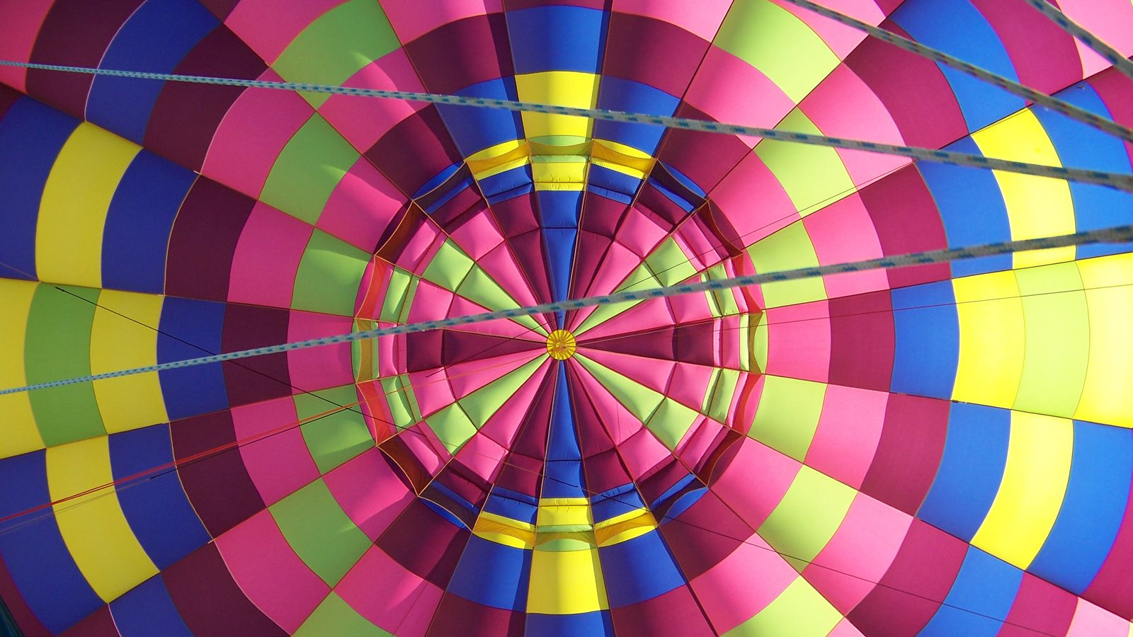 colorful fabric of a hot air balloon in St. Louis