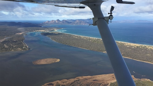 View from the plane of Wineglass Bay & Three Capes in Australia