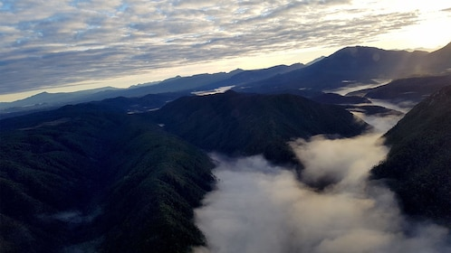 Foggy view on the Wild West Coast Tour of Australia