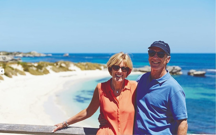 Show item 1 of 6. Rottnest Island Bus Tour with Ferry & Train Ride Package
