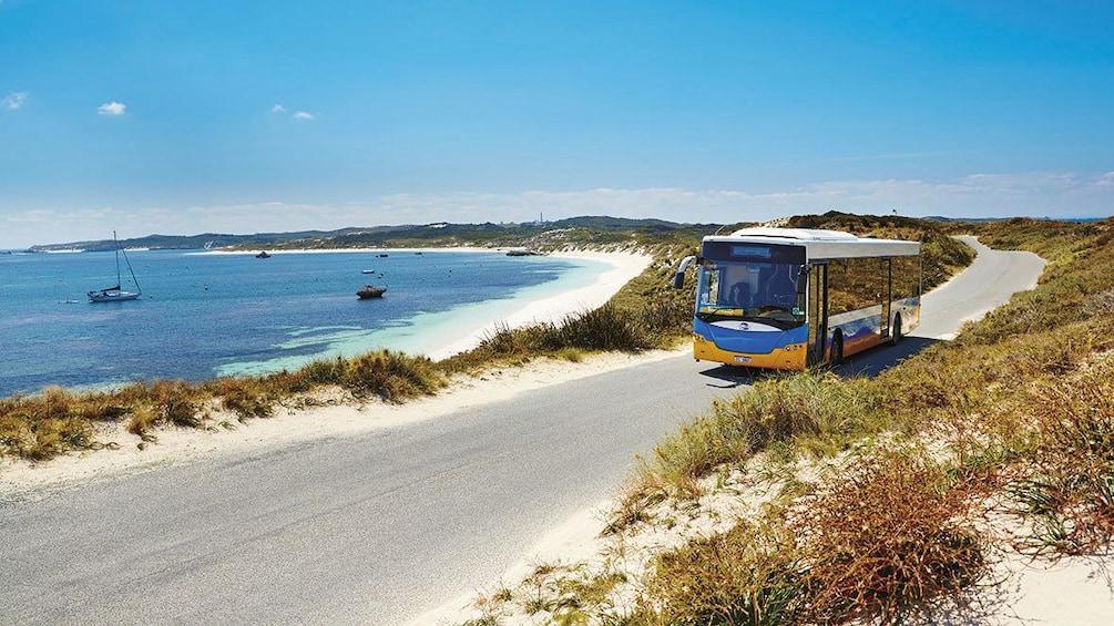 Show item 2 of 6. Bus along the coast of Rottnest Island