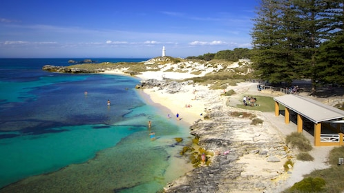 Aerial view of Rottnest Island beach