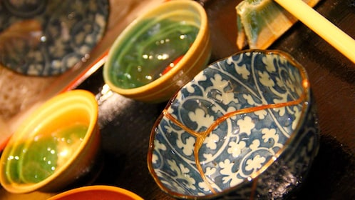 Pottery at the Kintsugi Pottery Repairing Experience in Tokyo