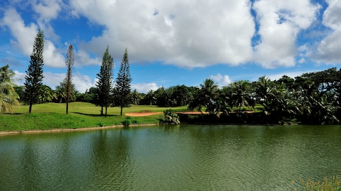Large pond on a golf course in Guam