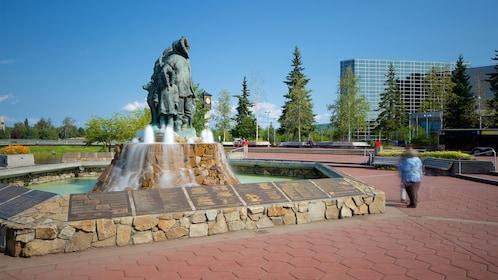 Fountain in Fairbanks