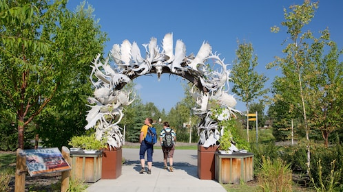 Park with antler archway in Fairbanks