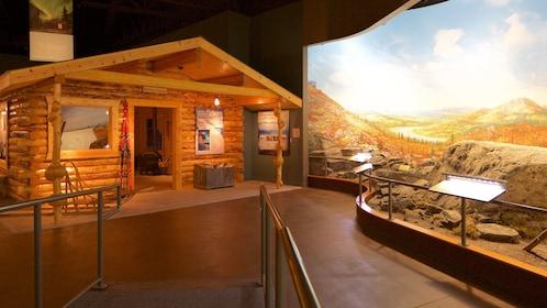 Diorama inside museum in Fairbanks