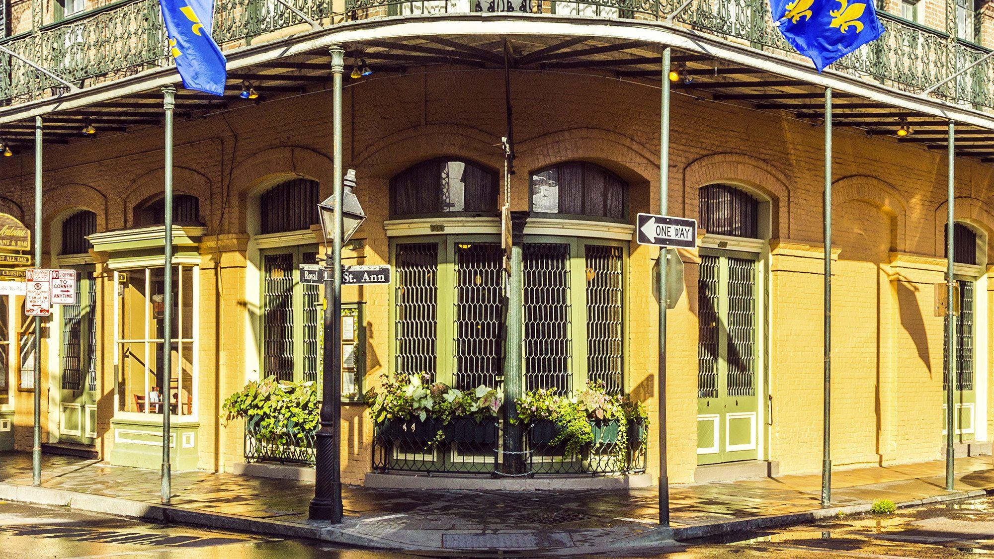 Street corner in New Orleans, LA