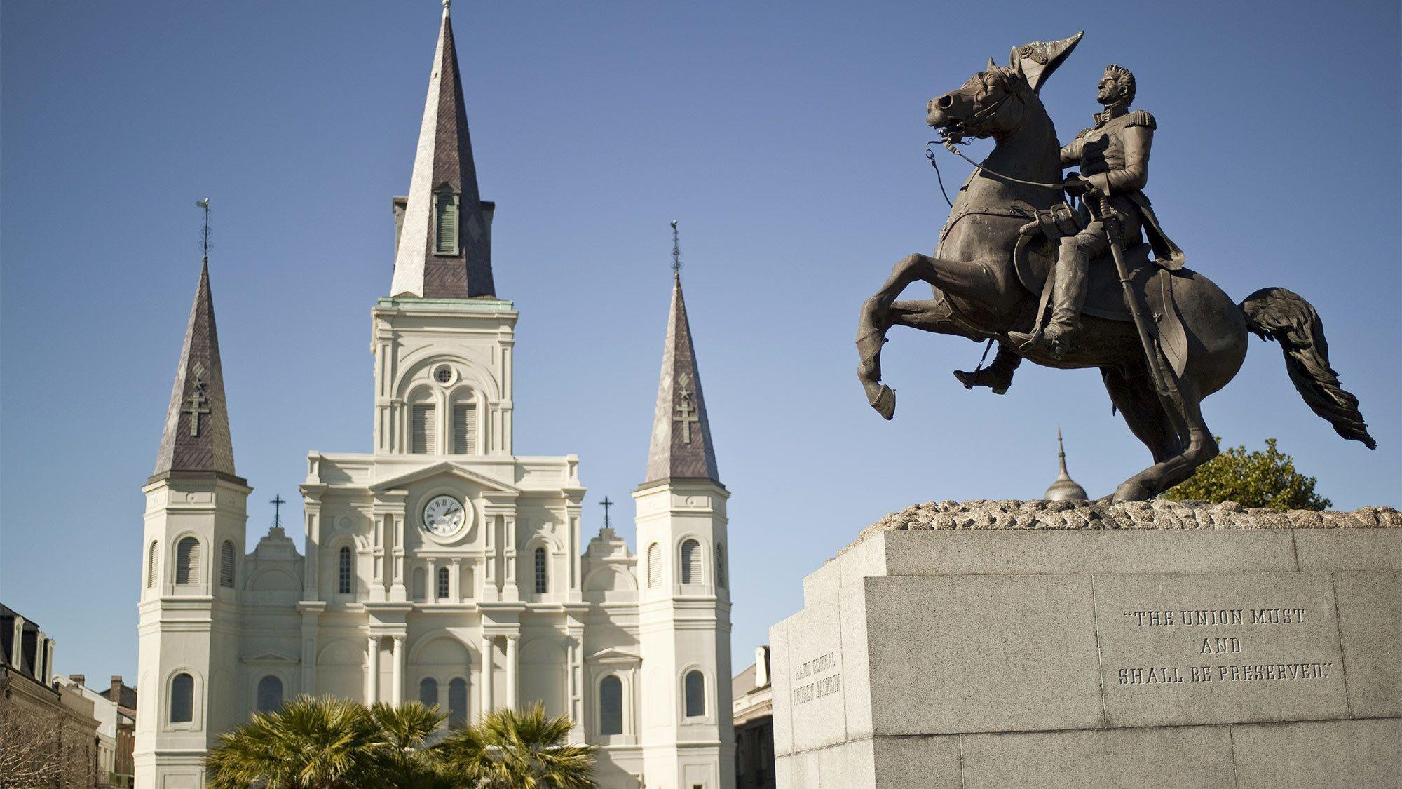 Beautiful Jackson Square in New Orleans, LA