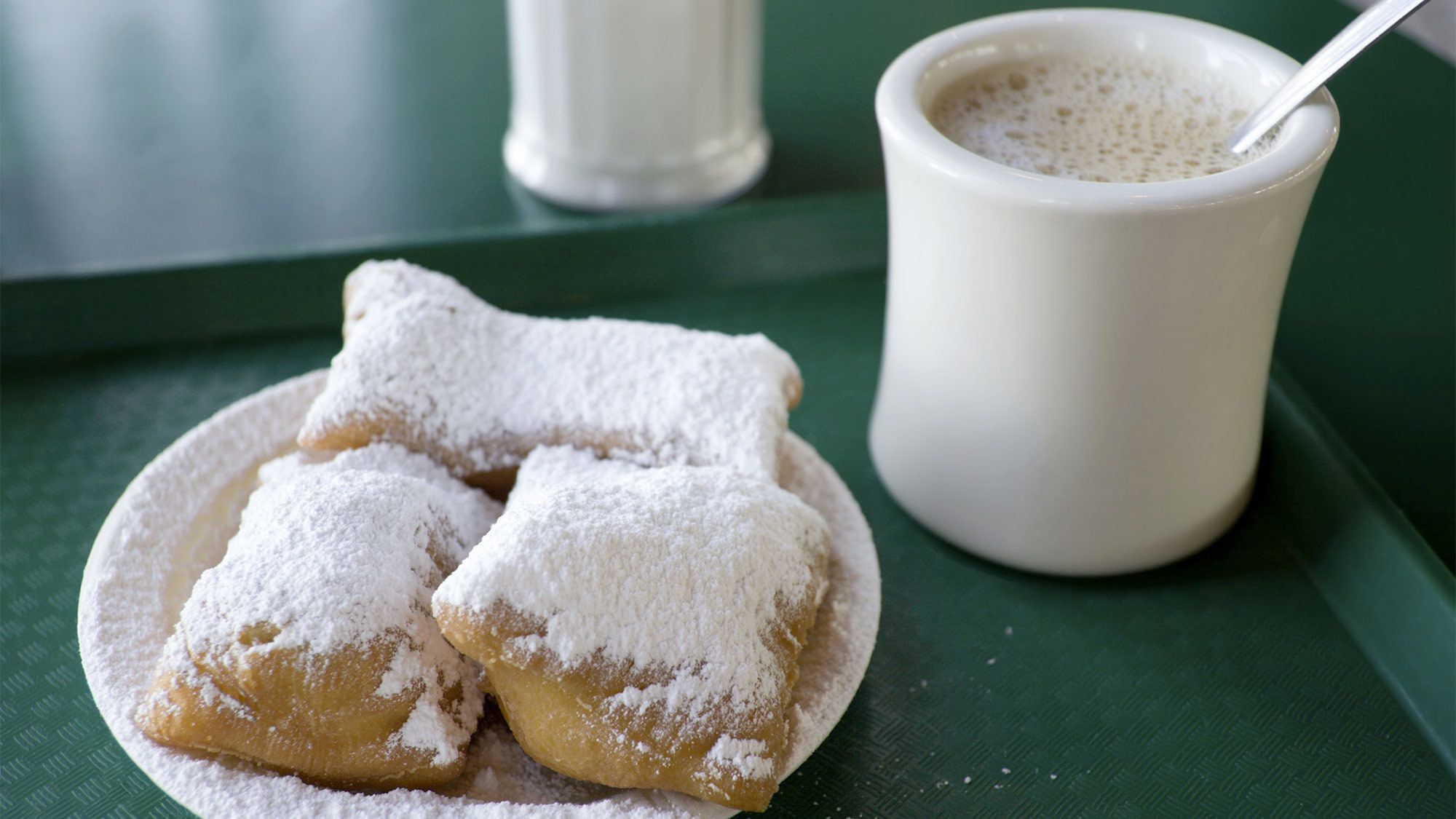 Dessert and coffee in New Orleans, LA