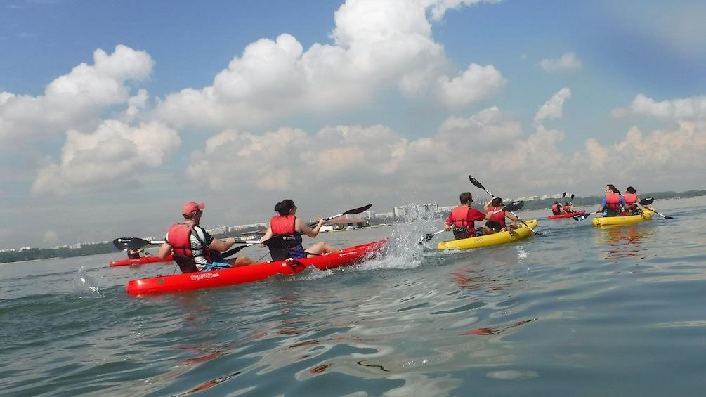 Show item 5 of 5. Kayak group in Singapore