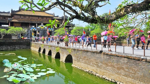 Vibrant view of a historic building in Hue, Vietnam