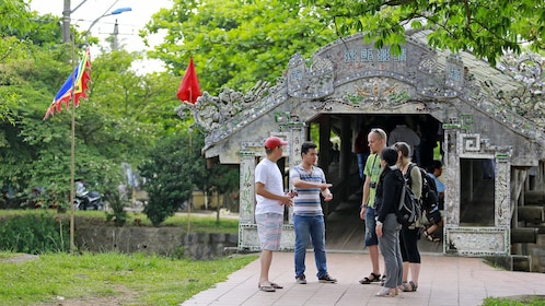 Group on a tour of Hue, Vietnam
