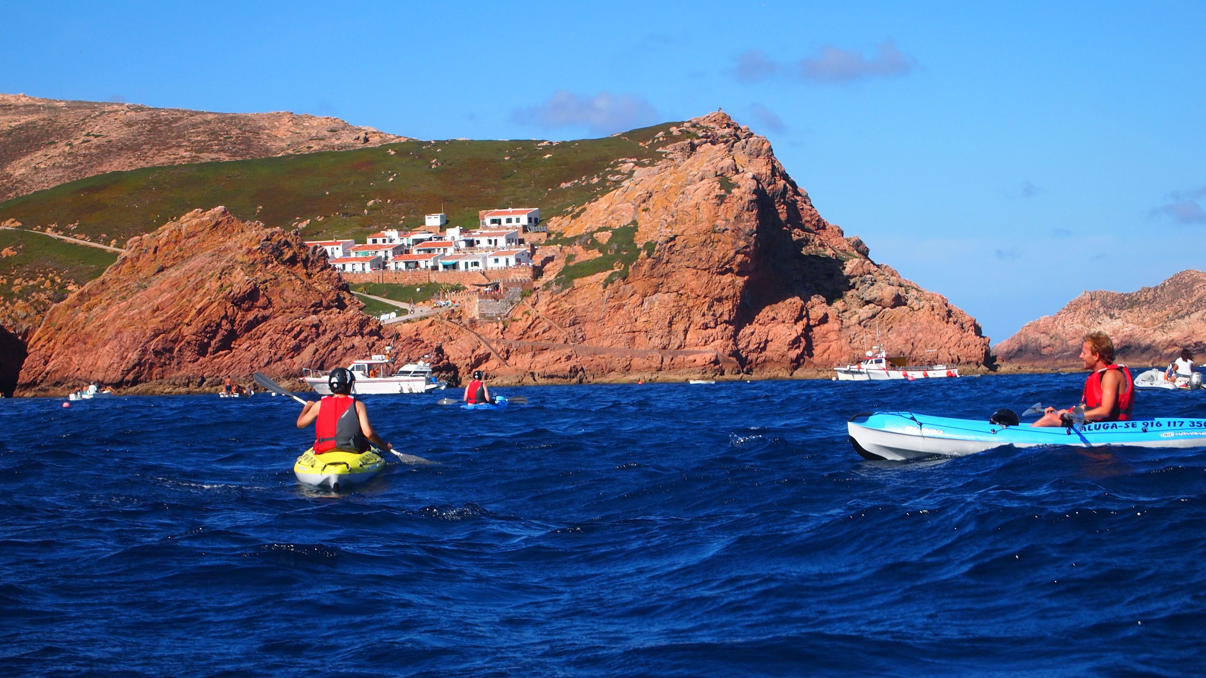 Kayakers off the coast of Berlengas Islands